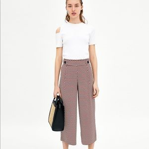 Zara flowing cropped trouser